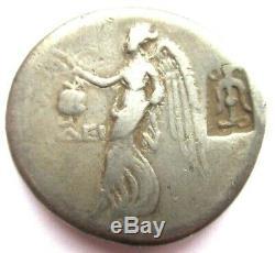 Silver-Tetradrachm of Side in Pamphylia Rv. Nike walking left