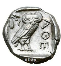 Superbe tétradrachme Athènes Athens attica Attika chouette owl argent