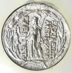 Syria Antiochus VII AR Tetradrachm Bible Coin 138-129 BC (Athena, Nike) NGC AU