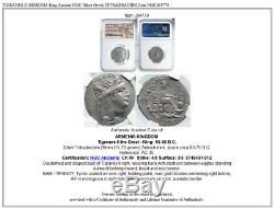 TIGRANES II ARMENIA King Ancient 83BC Silver Greek TETRADRACHM Coin NGC i84770
