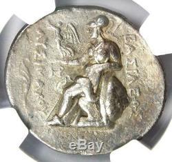 Thrace Alexander the Great Lysimachus AR Tetradrachm Coin 305 BC NGC Choice VF