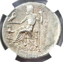 Thrace Alexander the Great Lysimachus AR Tetradrachm Coin 305 BC NGC Choice XF