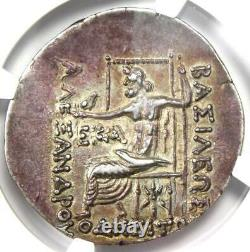 Thrace Odessus Alexander AR Tetradrachm Coin 125-70 BC Certified NGC Choice XF