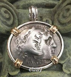 Treasure Coin Pendant Authentic Ancient Greek Alexander the Great Artifact