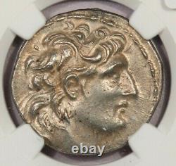 138-129 Av. J.-c. Royaume Séleucide Antiochus VII Ar Tetradrachm Rv Athena Ngc Ch Au B-5