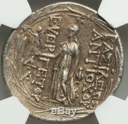 138-129 Bc Séleucides Antiochus VII Évergète Sidétès Ar Tétradrachme Ngc Xf