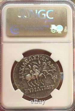 170-145 Avant Notre Ère Indo-grec Royaume De Bactriane, Eucratides I Ar Argent Tétradrachme