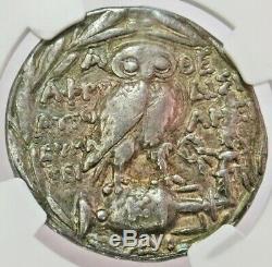 2e 1er Siècle Avant Notre Ère Silver Attique Athen Tétradrachme Athena Owl Nouveau Style Ngc Vf