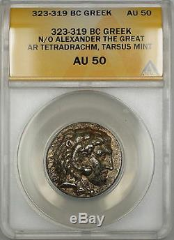 323-319 Bc Ar Tetradrachm Grec Ancien Coin Alexandre Le Grand Anacs Au-50 Sb