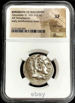 336- 323 Bc Argent Macédon Tétradrachme Alexandre Le Grand Ngc Extrêmement Fin