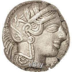 # 38840 Attique, Tétradrachme, 490-407 Av Jc, Athènes, Au (50-53), Argent, Sng