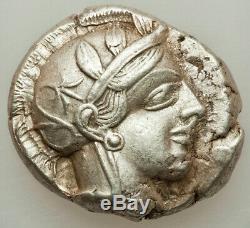 440-04 Bc Ancient Xf Grèce Athènes Ar Tétradrachme Choix D'un Qualifié Beauty