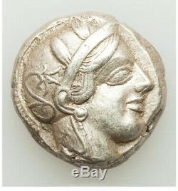 440-04 Bc Ancient Xf Grèce Athènes Ar Tétradrachme Choix High Points Blanc Brite