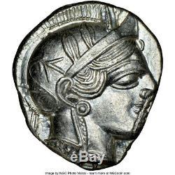440-04 Bc Grèce Antique Athènes Ar Tétradrachme Ngc Ms 3/5 3/5 Première Réserve Curr