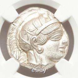 440-04bc Attica Athens Ar Tetradrachm Ngc Ms 4/5 4/5 Rare Crête Complète Et Lustre