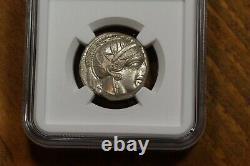 440-404 B. C. Tétradrachme D'argent Grec Ancien, Chouette D'athènes, État De La Monnaie De La Ngc (ms)