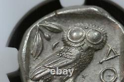 440-404 B. C. Tétradrachme D'argent Grec Ancien, Chouette D'athènes, Ngc Au État