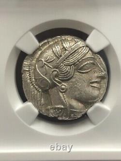 440-404 Bc Attica, Athens Ar Tetradrachm Owl Silver Coin Ngc Graded Choice Au