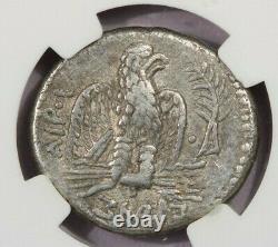 54-68 Ad Syrie, Antioch Nero Ar Tetradrachm Rv Aigle Sur Fulmenbranch Ch Vf B4