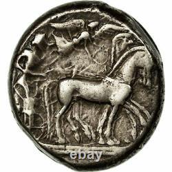# 652658 Coin, Sicile, Syracuse, Hieron I, Tetradrachm, Au (50-53), Argent