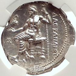 Alexander III La Grande Etat Monnaie Tetradrachm Monnaie Grecque Argent Ngc Ms I69568
