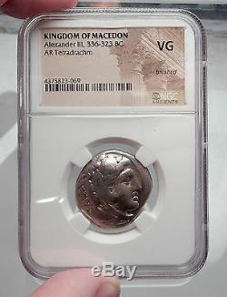 Alexander III Le Grand 311bc Tétradrachme D'argent Grec Ancien Monnaie Ngc I60188