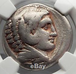 Alexander III Le Grand 323bc Macédoine Tétradrachme D'argent Grec Monnaie Ngc I59836