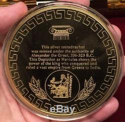 Alexander III Le Grand 330bc Argent Grec Tetradrachm Monnaie & Medallion I61748