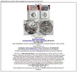 Alexander III Le Grand 336bc Tetradrachm Argent Grec Ancien Monnaie Ngc I63343