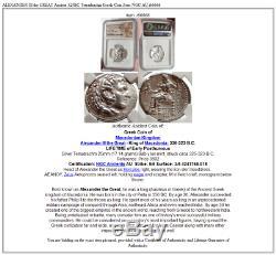 Alexander III Le Grand Ancien 325bc Tetradrachm Grec Zeus Coin Ngc Au I66666