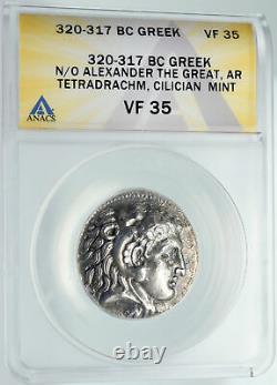 Alexander III Le Grand Ancien Argent Ancien Grec Tetradrachm Pièce Anacs I91595