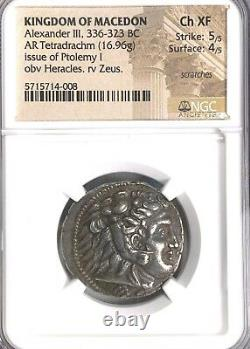 Alexander III Ngc Ch Xf 5/5 4/5 Royaume De Macedon Ar Tetradrachm 019