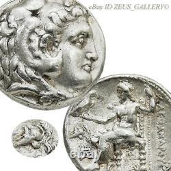 Alexander Le Grand Casque Corinthien Rare Grec Ancien Tetradrachm Non Répertorié