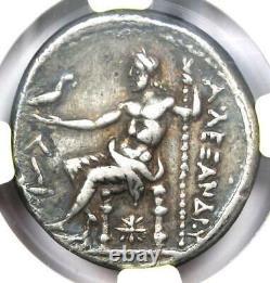 Alexander The Great III Ar Tetradrachm Coin 336-323 Bc Certifié Ngc Vf