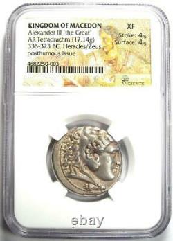 Alexander The Great III Ar Tetradrachm Coin 336-323 Bc Certifié Ngc Xf (ef)