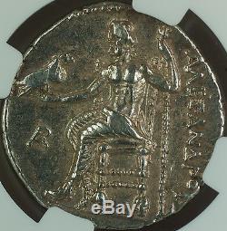 Alexandre III 336-323 Av. J.-c, Tétradrachme D'argent, Royaume De Macédoine Ngc Au Ancient