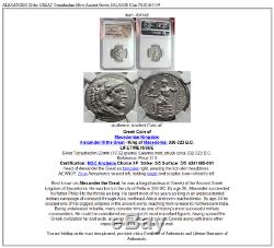 Alexandre III Du Grec Ancien Argent Grande Tetradrachm Salamis Coin Ngc I64149
