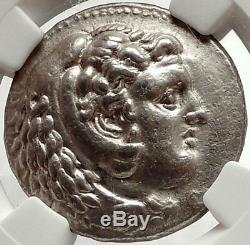 Alexandre III Le 324bc Grande Ancien Tétradrachme D'argent Grec Monnaie Ngc I66684