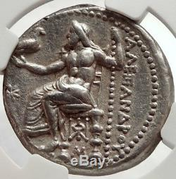 Alexandre III Le Grand Ancien 325bc Tétradrachme Pièce Grecque Zeus Ngc Au I66665