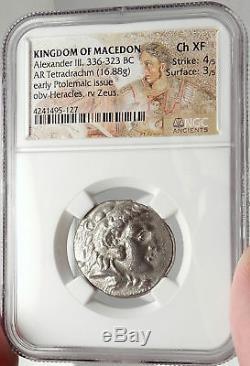 Alexandre III Le Grand Ancien 330bc Tetradrachme Pièce Grecque Argent Ngc I66657
