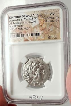 Alexandre III Le Grand Ancien Monnaie Grecque En Argent Tétradrachme 324bc Ngc I66684