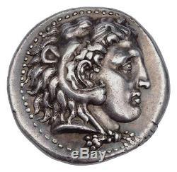 Alexandre III Le Grand Tétradrachme 323 Bc Memphis Mint Argent Ancienne Pièce De Monnaie