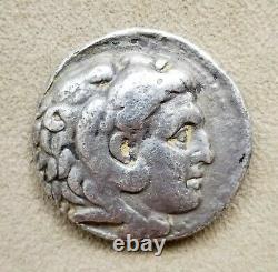 Alexandre III Le Grand Tétradrachme D'argent Grec Antique Authentique Avec Le Coa