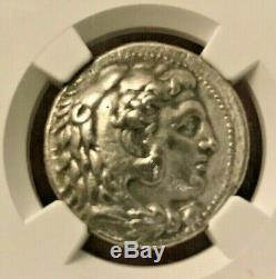 Alexandre III Le Ngc Grec Grand Tétradrachme D'argent Xf Style Raffiné
