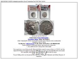 Alexandre Ier Balas Seleukid Ancien Argent Grec Tetradrachm Numismatique, Ngc Châu I62341