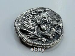 Alexandre Le Grand Ar Tetradrachm 336-323 Ad. Vf Détail, Outillé. Numéro À Vie