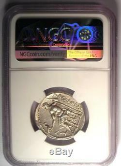 Alexandre Le Grand Ar Tetradrachm Coin 336-323 Bc Certifié Ngc Au De Nice