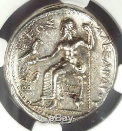 Alexandre Le Grand Ar Tetradrachm Coin 336-323 Bc Certifié Ngc Au Rare