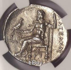 Alexandre Le Grand Ar Tetradrachm Coin 336-323 Bc Certifié Ngc Choix Au