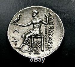 Alexandre Le Grand. Belle Superbe Tetradrachm. Grec Ancien Silver Coin